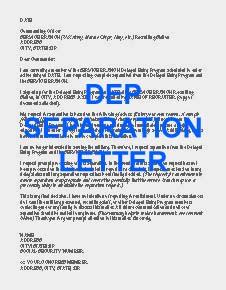DEP separation letter
