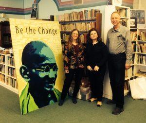 AnitaHeckman, Tata Monfared, director of Senses Cultural, and Peter Klotz-Chamberlin at RCNV in February, 2015