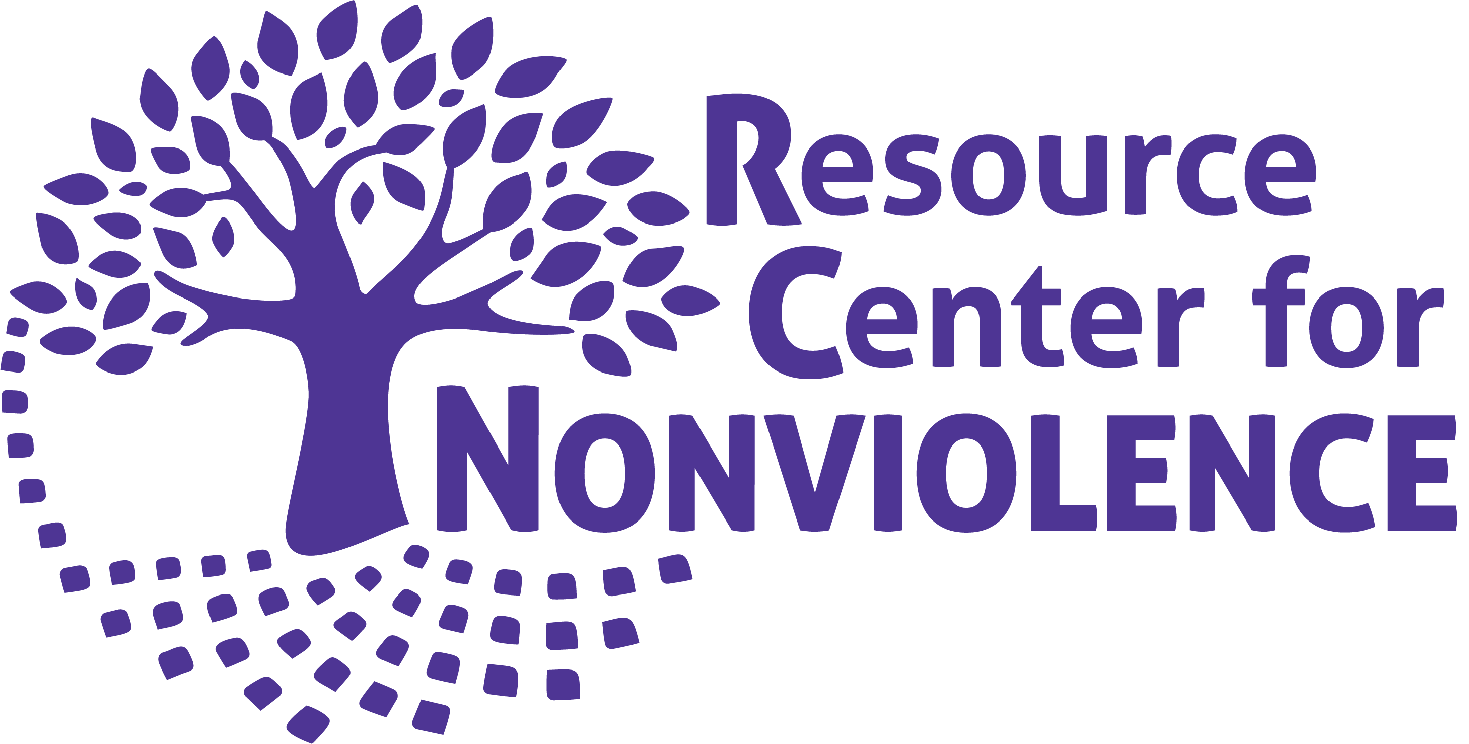 Resource Center for Nonviolence Graphic of a tree before text